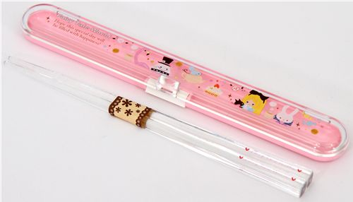 Alice in Wonderland Bento Chopsticks pink kawaii cute 3