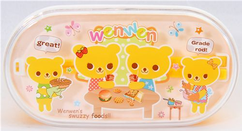 Yellow Bento Box Bear Family kawaii lunch box 2