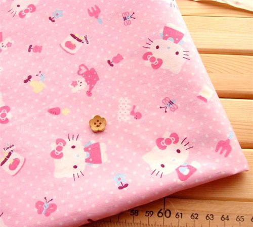 Hello Kitty fabric from Japan