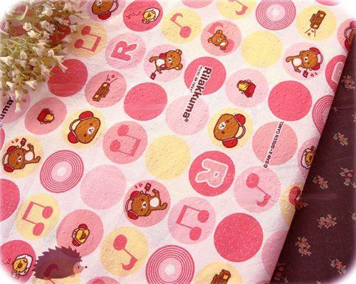 kawaii Rilakkuma fabric