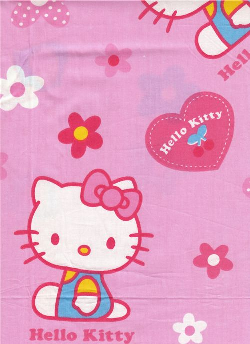kawaii fabric with Hello Kitty