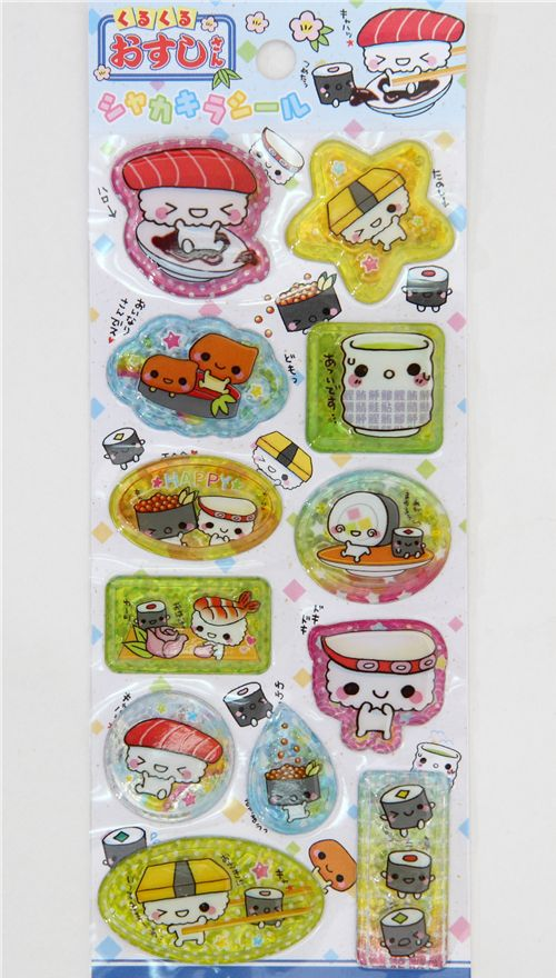 Q-lia Kawaii Sushi Sticker